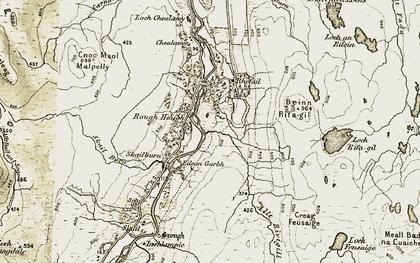Old map of Allt Rivigill in 1910-1912