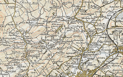 Old map of Roughlee in 1903-1904