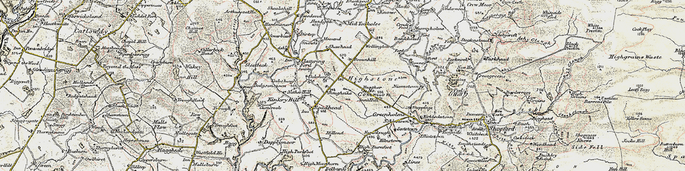 Old map of Whintingstown in 1901-1904