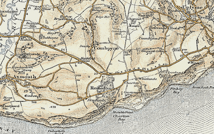Old map of Westhayes in 1899
