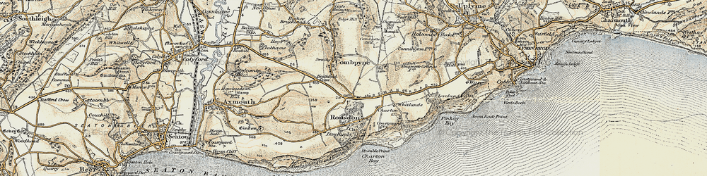 Old map of Whitlands in 1899