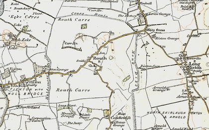 Old map of Leven Canal in 1903-1908