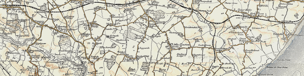 Old map of Ampers Wick in 0-1899