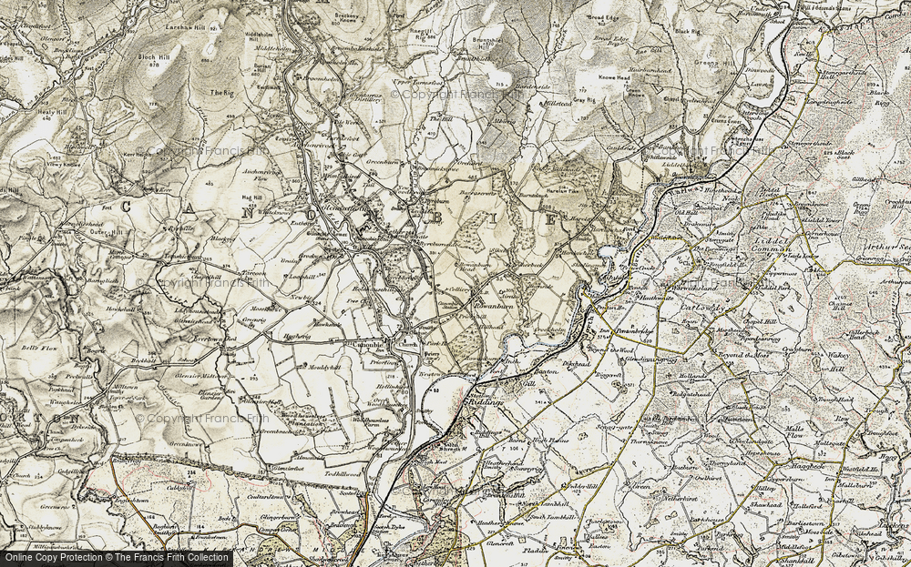 Old Map of Historic Map covering Airnlee in 1901-1904