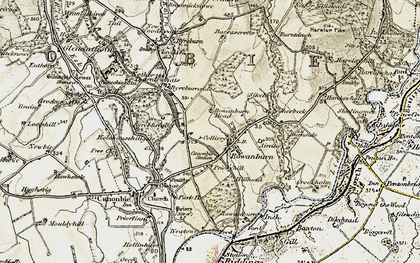 Old map of Airnlee in 1901-1904