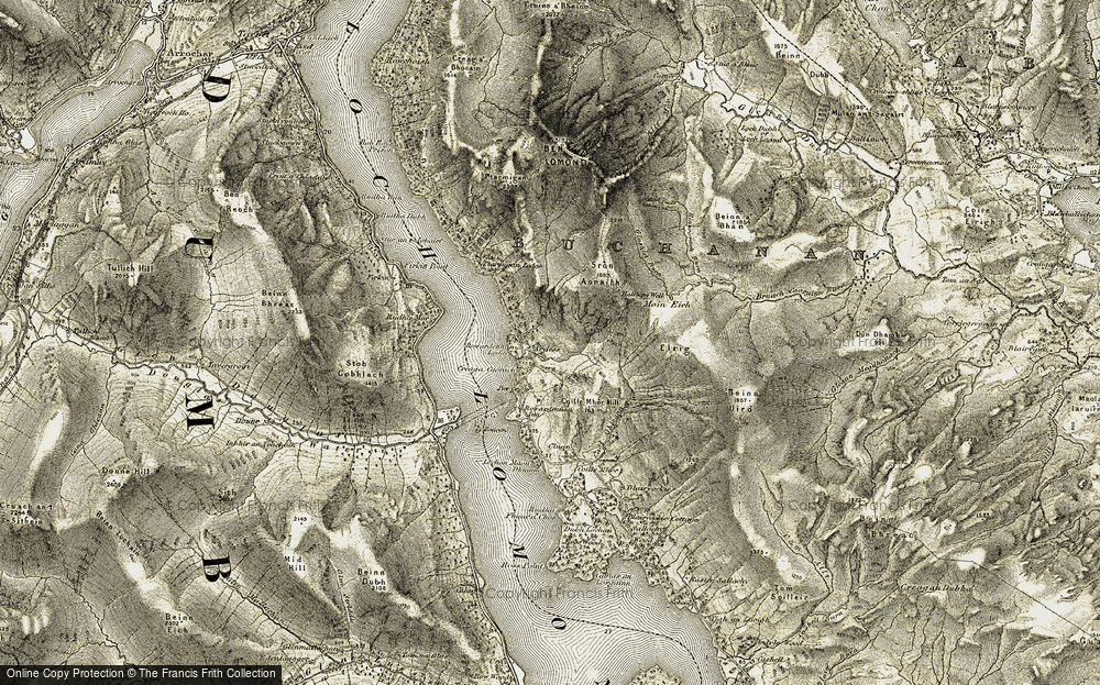 Old Map of Historic Map covering Tom Eas in 1905-1907
