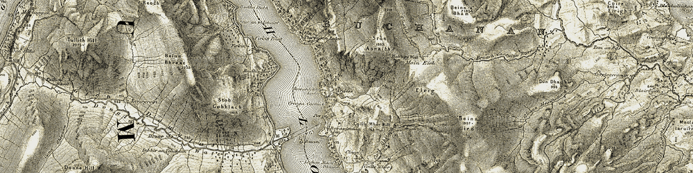Old map of Tom Eas in 1905-1907