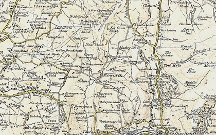 Old map of Rowarth in 1903