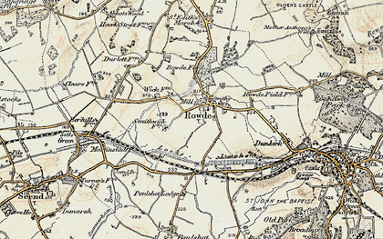 Old map of Rowde in 1898-1899