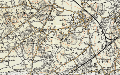 Old map of Rowhill in 1897-1909