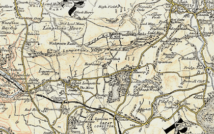 Old map of Rowland in 1902-1903
