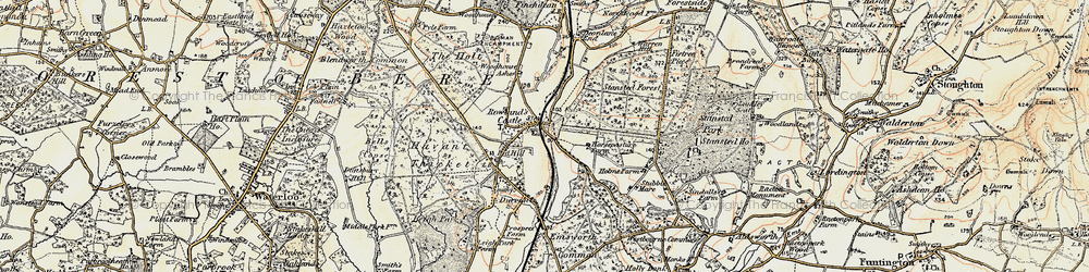Old map of Rowlands Castle in 1897-1899