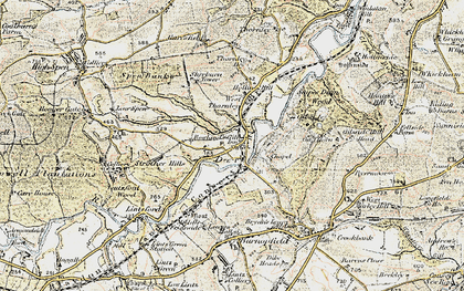 Old map of Rowlands Gill in 1901-1904