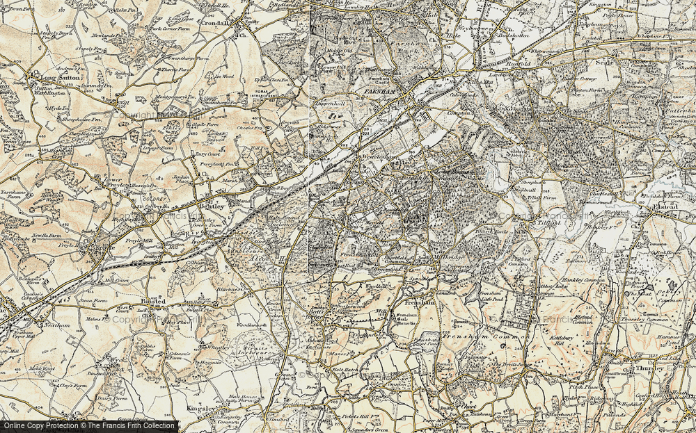 Old Map of Rowledge, 1897-1909 in 1897-1909