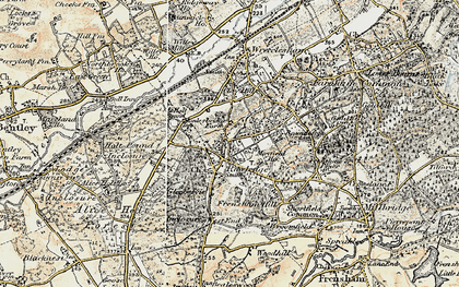 Old map of Rowledge in 1897-1909