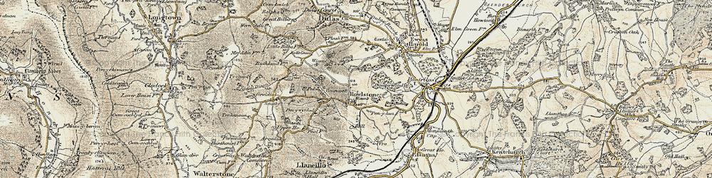 Old map of Wigga in 1900
