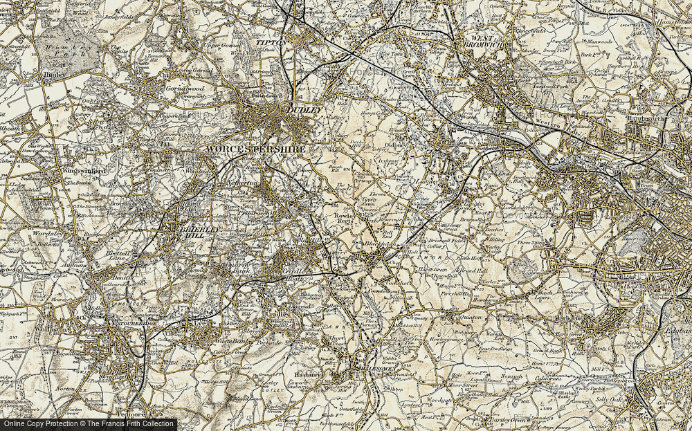 Old Map of Rowley Regis, 1902 in 1902