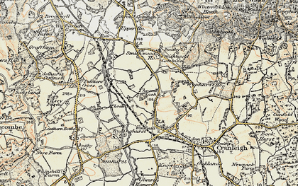 Old map of Rowly in 1897-1909