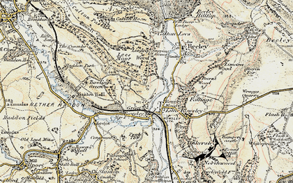 Old map of Haddon Hall in 1902-1903