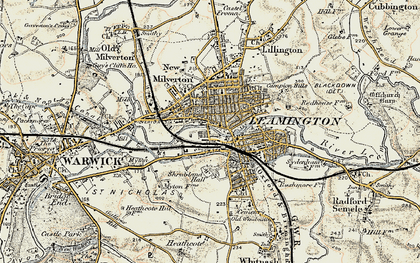 Old map of Leamington Spa in 1898-1902
