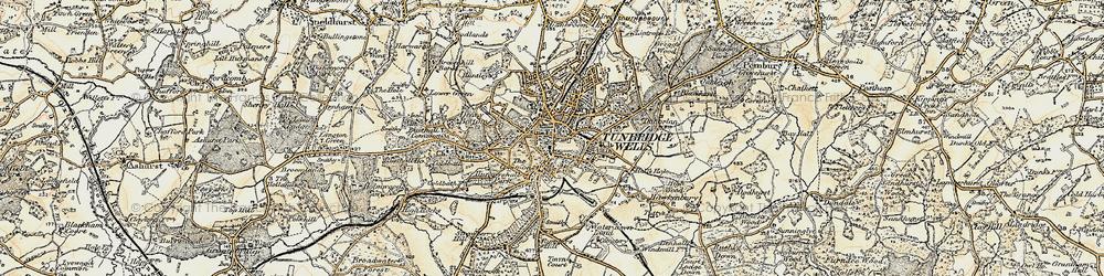 Old map of Tunbridge Wells in 1897-1898