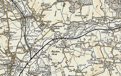 Old map of Lightfoots in 1898