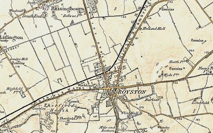 Old map of Royston in 1898-1901