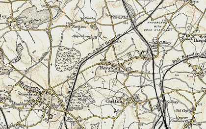 Old map of Royston in 1903