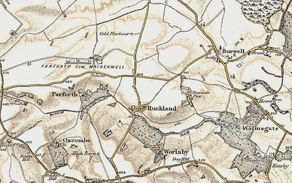 Old map of Woody's Top in 1902-1903