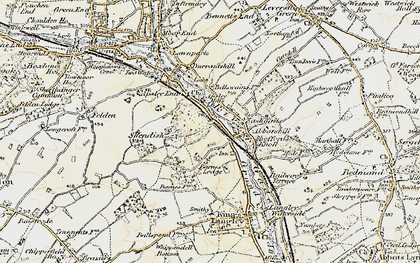 Old map of Rucklers Lane in 1897-1898