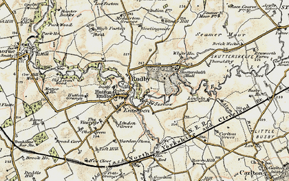 Old map of Hutton Rudby in 1903-1904