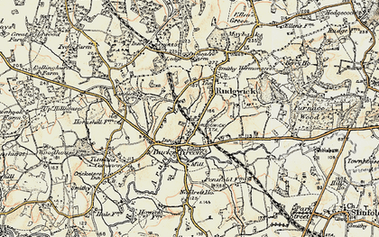 Old map of Rudgwick in 1897-1900