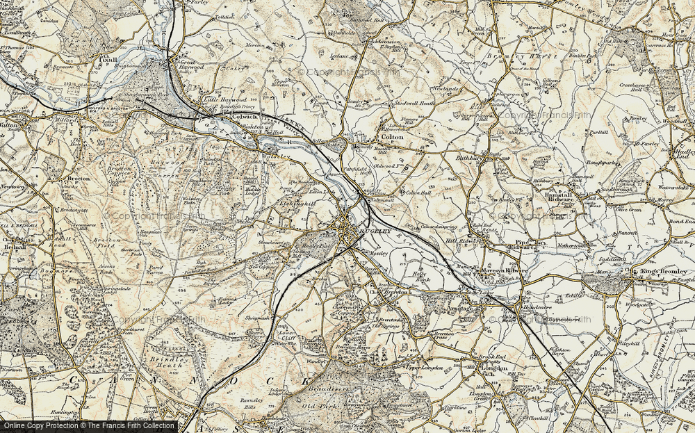 Old Map of Rugeley, 1902 in 1902