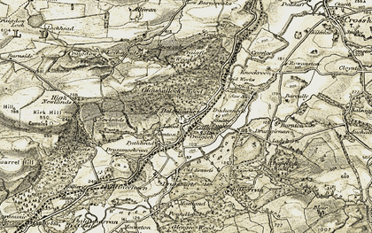 Old map of Toddy Burn in 1905