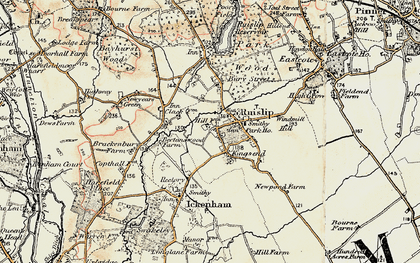 Old map of Ruislip in 1897-1898