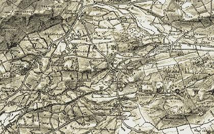 Old map of Rumbling Bridge in 1904-1908