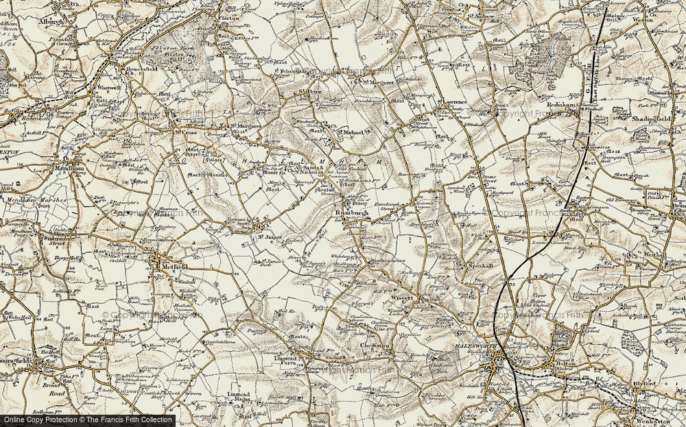 Old Map of Rumburgh, 1901-1902 in 1901-1902