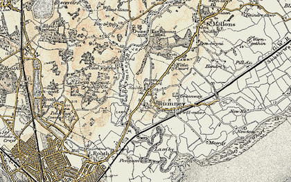 Old map of Rumney in 1899-1900