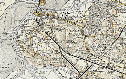 Old map of Runcorn in 1902-1903