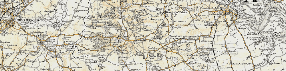 Old map of Woodham Walter Common in 1898