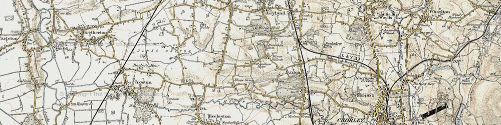 Old map of Worden Park in 1903