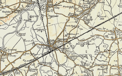 Old map of Ruscombe in 1897-1909