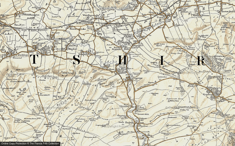 Old Map of Rushall, 1897-1899 in 1897-1899