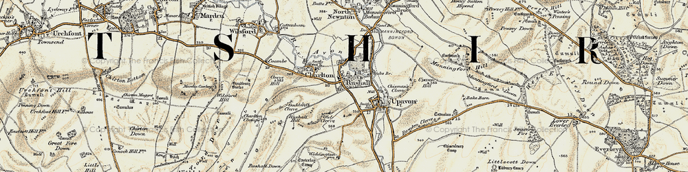 Old map of Rushall in 1897-1899