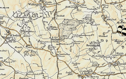 Old map of Rushden in 1898-1899