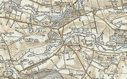 Old map of Young Plantn in 1901