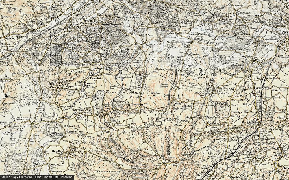 Old Map of Rushmoor, 1897-1909 in 1897-1909