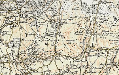 Old map of Rushmoor in 1897-1909