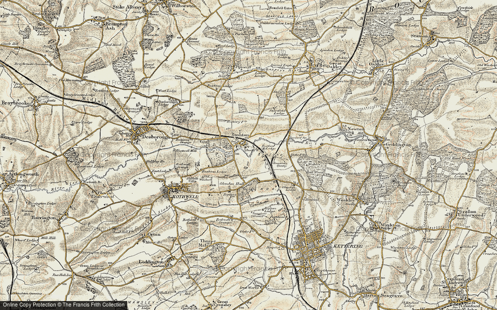Old Map of Historic Map covering Barford Br in 1901-1902