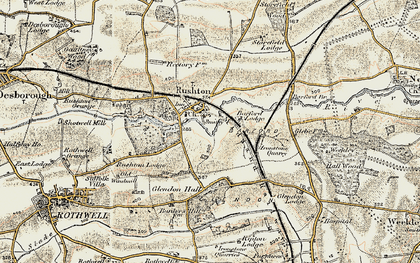 Old map of Barford Br in 1901-1902